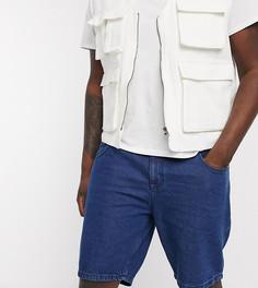Темно-синие узкие джинсовые шорты ASOS DESIGN Plus-Синий