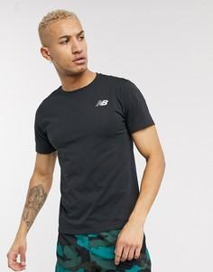 Черная футболка New Balance Running-Черный