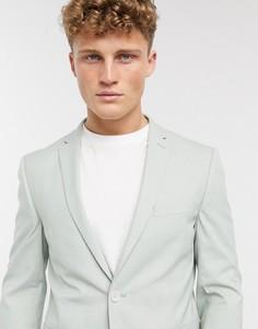 Узкий пиджак мятного цвета Esprit-Зеленый