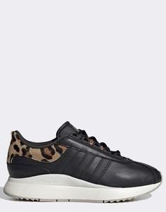 Черные кроссовки с леопардовыми вставками adidas Originals SL Andridge Fashion-Черный