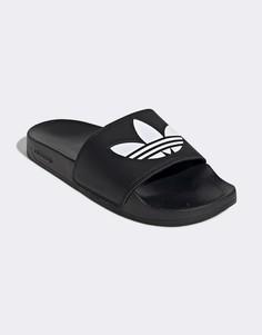Черные шлепанцы adidas Originals adilette Lite-Черный