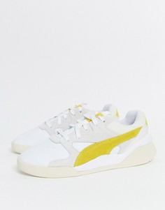 Бело-желтые кроссовки Puma Aeon Heritage-Мульти