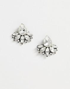 Серьги-гвоздики с кристаллами True Decadence-Серебряный