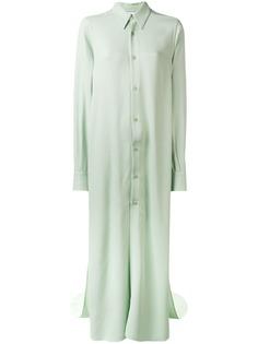 Ami Paris длинное платье-рубашка с длинными рукавами