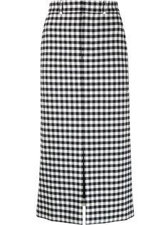 Ami Paris юбка прямого кроя с разрезом спереди