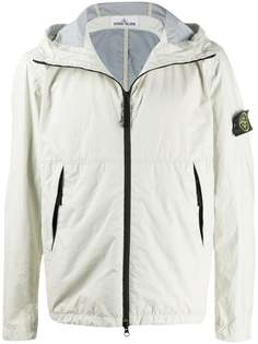 Stone Island куртка с нашивкой-логотипом