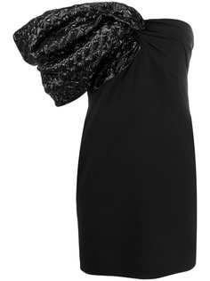Saint Laurent коктейльное платье на одно плечо