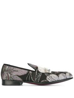 Dolce & Gabbana слиперы с вышивкой корон