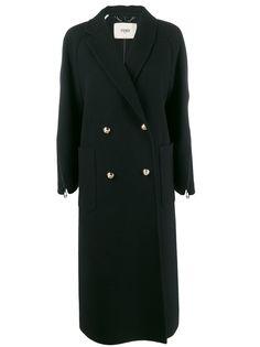 Fendi длинное пальто на молнии
