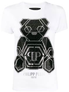 Philipp Plein декорированная футболка Teddy Bear