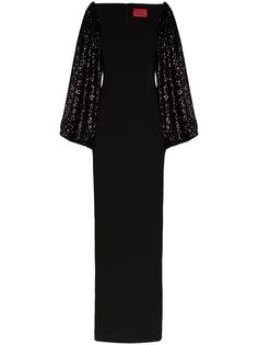 Solace London платье макси Gilda с пайетками