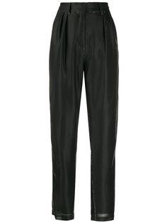 Balmain зауженные брюки из ткани ламе