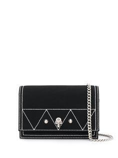 Alexander McQueen мини-сумка через плечо с декором Skull и заклепками