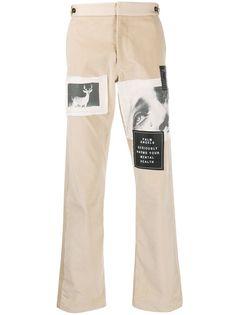 Palm Angels вельветовые брюки чинос с нашивками