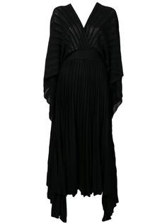 Valentino трикотажное коктейльное платье с плиссировкой