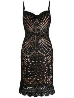 Dsquared2 платье миди с перфорацией