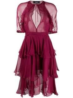 Dsquared2 ярусное платье