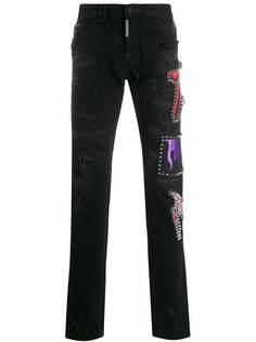 Philipp Plein декорированные джинсы прямого кроя