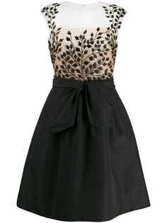 Oscar de la Renta коктейльное платье с вышивкой
