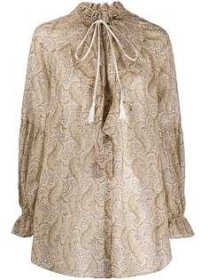 Etro блузка с оборками на воротнике и принтом пейсли