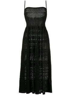 Dsquared2 расклешенное платье миди в технике кроше