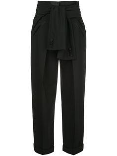 Alexander Wang деконструированные брюки с завязками