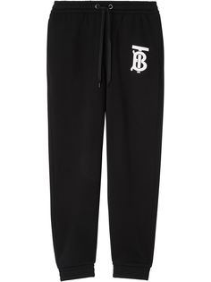 Burberry спортивные брюки с монограммой