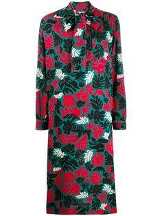 Marni платье-трапеция с принтом и бантом