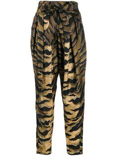 Dsquared2 зауженные брюки с принтом