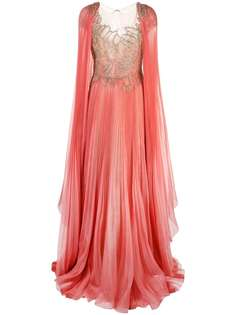 Marchesa вечернее платье с декоративной отделкой