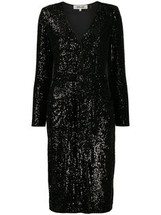 DVF Diane von Furstenberg коктейльное платье Melina с пайетками