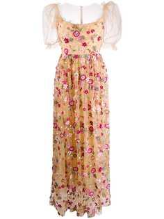 Parlor вечернее платье из тюля с цветочной вышивкой