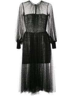 Saiid Kobeisy сетчатое коктейльное платье