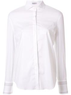 Brunello Cucinelli рубашка с декорированными манжетами