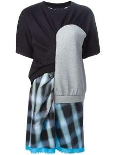 Marc By Marc Jacobs платье-футболка в стиле пэчворк