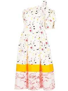 Carolina Herrera коктейльное платье с эффектом разбрызганной краски