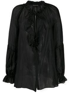 Etro полупрозрачная блузка с оборками