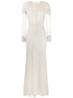 Parlor вечернее платье с бисером