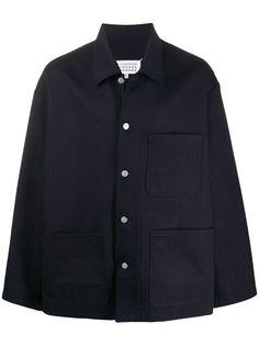 Maison Margiela куртка-рубашка с накладными карманами