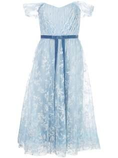 Marchesa Notte вечернее платье из тюля с блестками