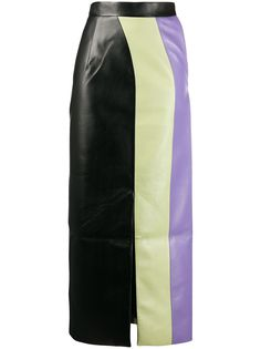 Matériel юбка макси в стиле колор-блок