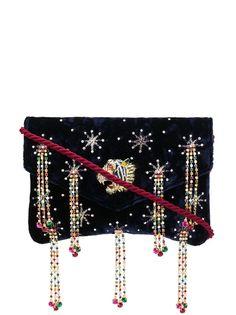 Gucci декорированная сумка через плечо
