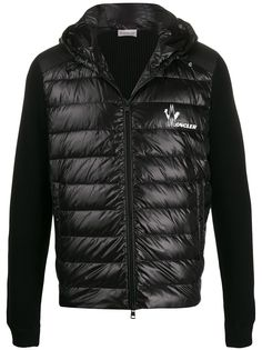 Moncler куртка со вставками и логотипом