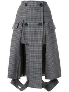Maison Margiela юбка в ломаную клетку на пуговицах