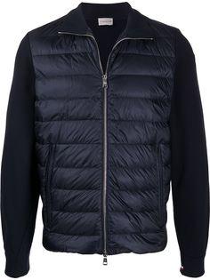 Moncler стеганая куртка с контрастными рукавами
