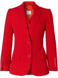 Burberry пиджак строгого кроя со вставкой