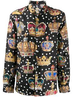 Dolce & Gabbana рубашка с принтом Crown