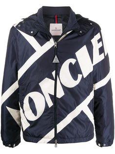 Moncler куртка с капюшоном и логотипом