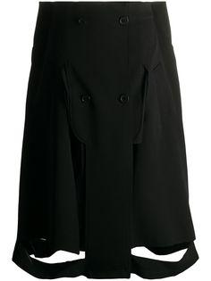 Maison Margiela юбка А-силуэта с вырезами