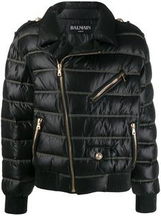 Balmain укороченное стеганое пальто